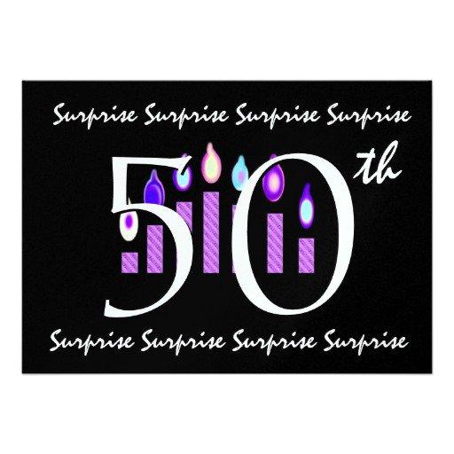 50 Surprise Birthday Invitations