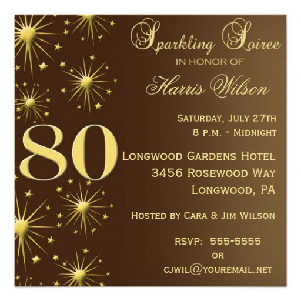50 Surprise Birthday Party Invitations