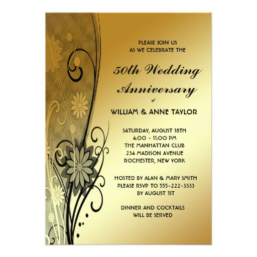 50th Anniversary Invitation Templates