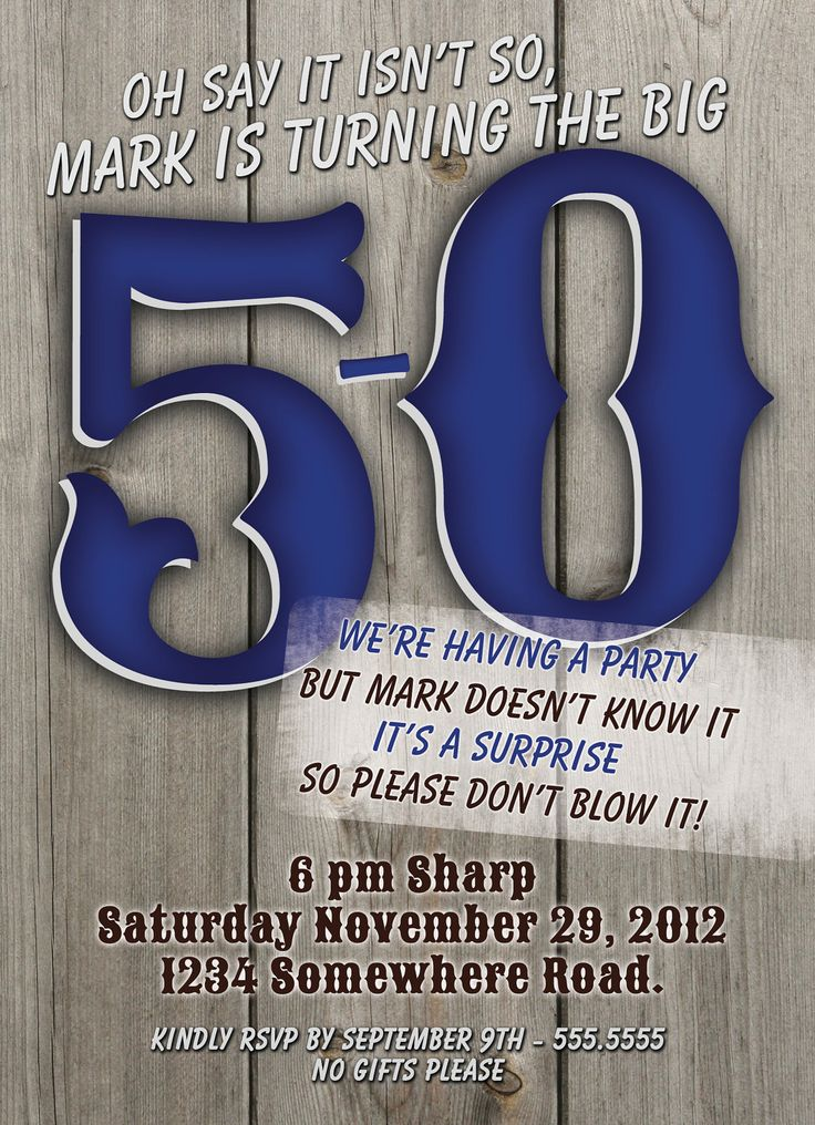 50th Birthday Invitations For Him