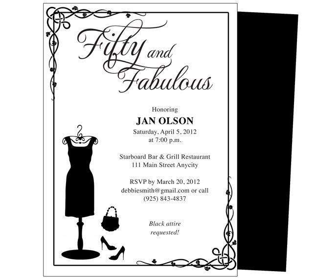 50th Birthday Party Invitations Printable Free