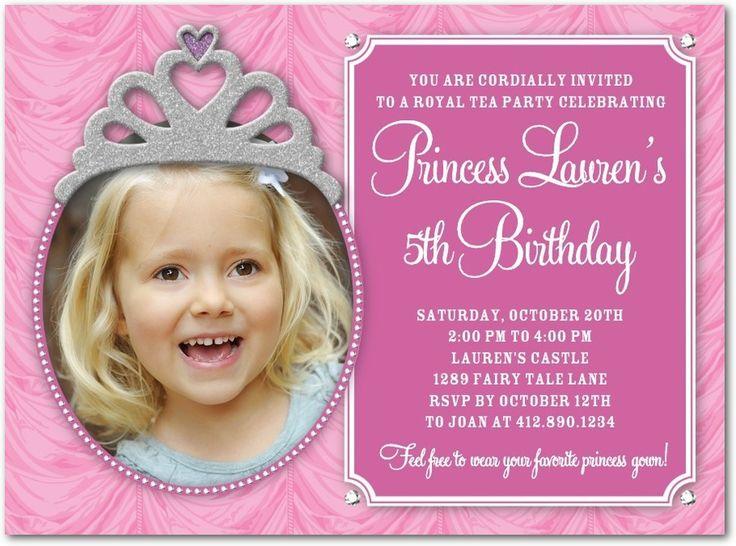 5th Birthday Invitation Cards