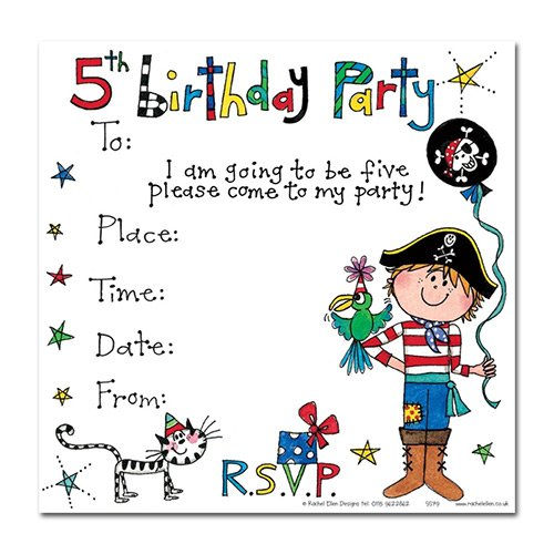 5th Birthday Invitation Cards For Boy