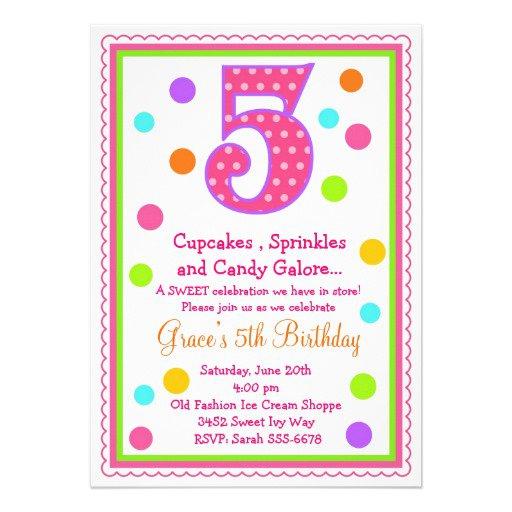 5th Birthday Invitation Ideas