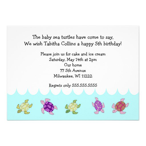 5th Birthday Invitation Wording