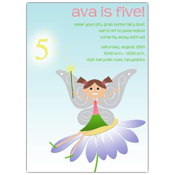 5th Birthday Invitation Wording For Girl
