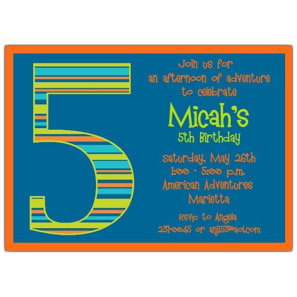 5th Birthday Party Invitations Wording