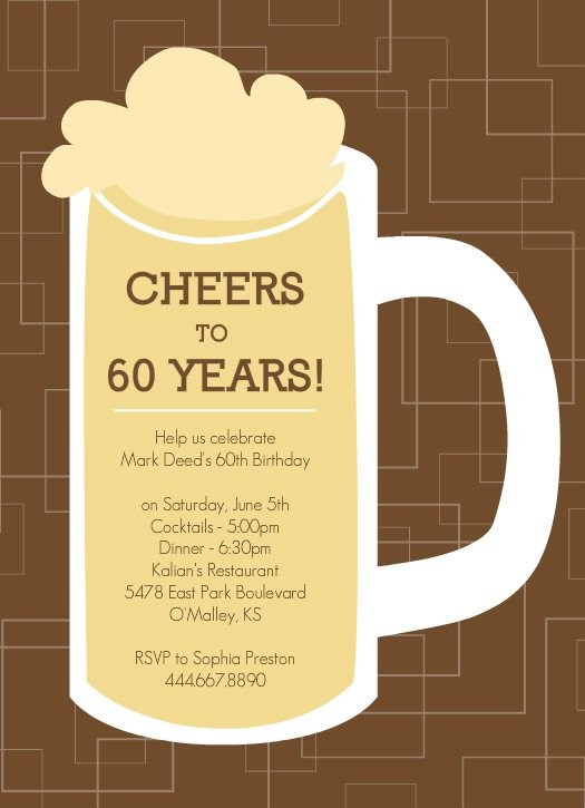 60th Birthday Invitations For Men