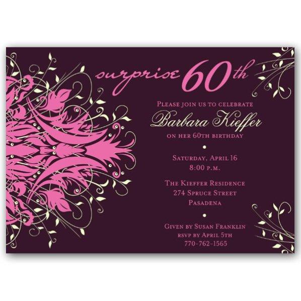 60th Birthday Invitations Wording Samples
