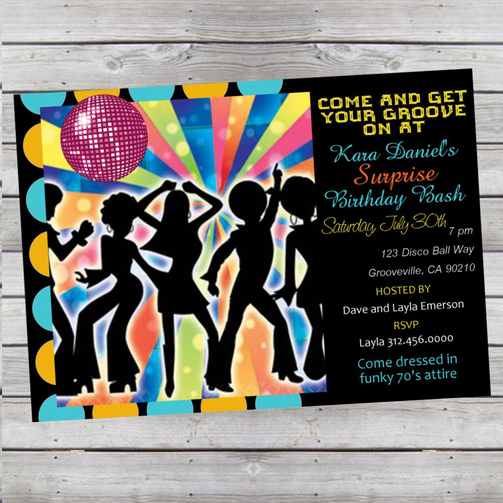 Free Disco Ball Party Invitations Life Style By Modernstorkcom - Disco birthday invitation templates free