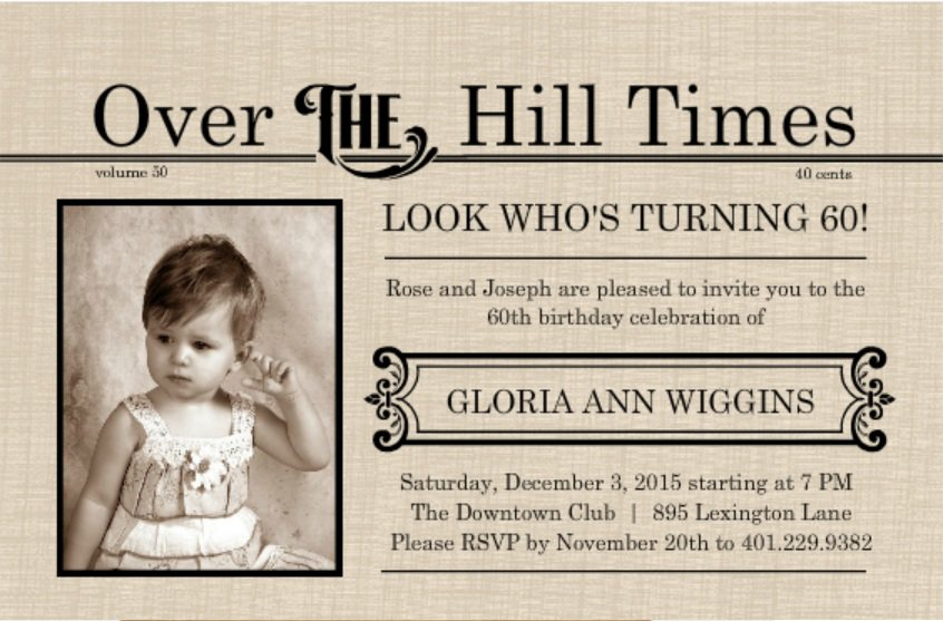 70th Birthday Invitations For Women
