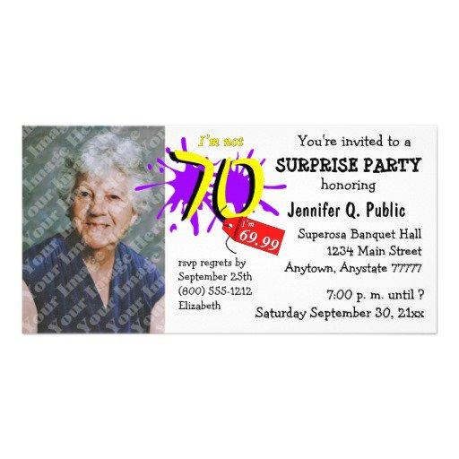 70th Birthday Invitations Woman