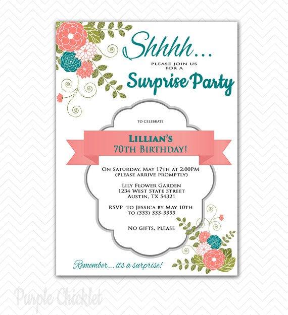 70th Birthday Party Invitations Free Printable