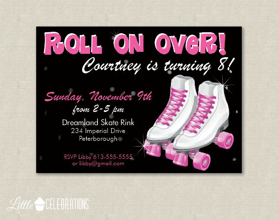 80s Printable Party Invitations