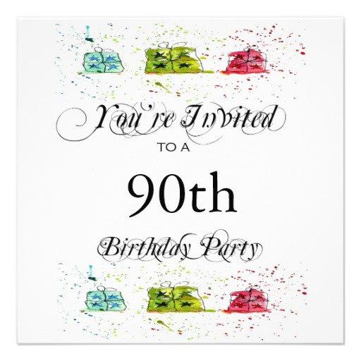90th Birthday Invitation Templates