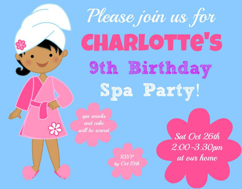 9 Year Old Birthday Party Invitations