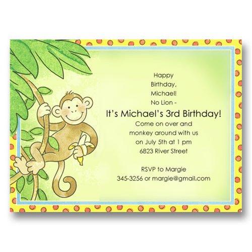 9 Year Old Boy Birthday Party Invitations