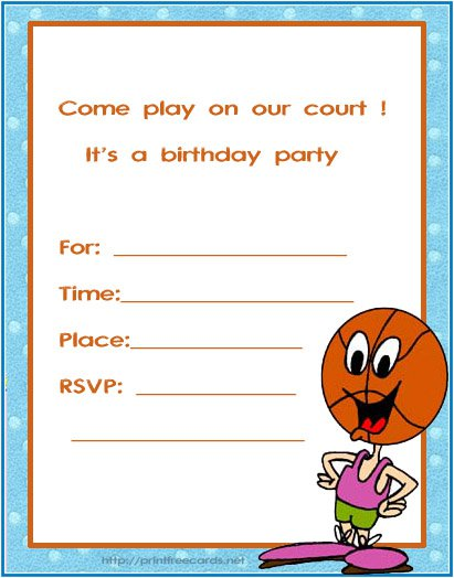 9th Birthday Invitation Cards