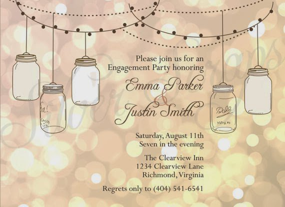 Actual Mason Jar Invitations
