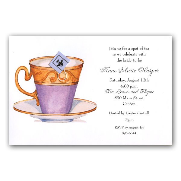 Afternoon Tea Party Invitation Wording