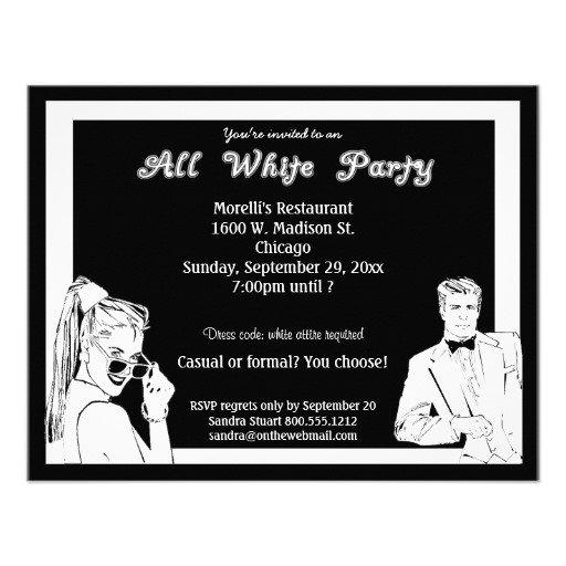 All White Attire Party Invitation