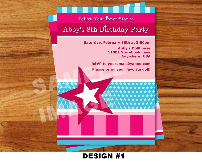 American Girl Invitation Templates – Girl Birthday Invitation Templates