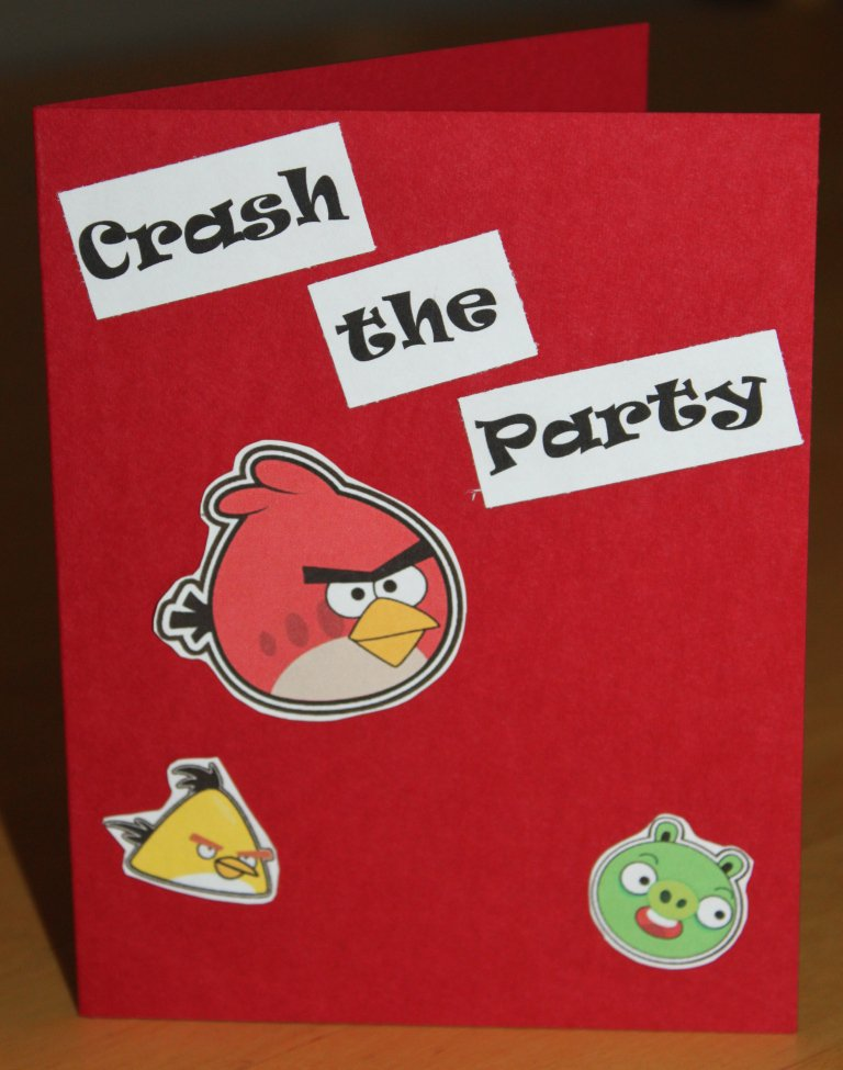 Angry Bird Party Invitations Print