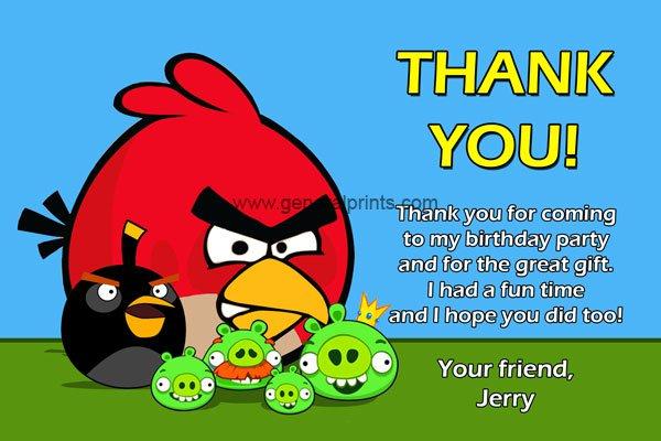 Angry Birds Birthday Custom Invitations