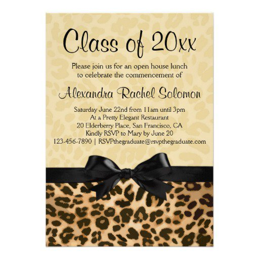 Animal Print Graduation Invitations