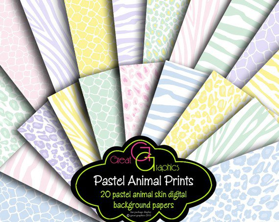 Animal Print Invitation Paper