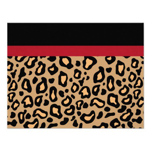 Animal Print Party Invitations
