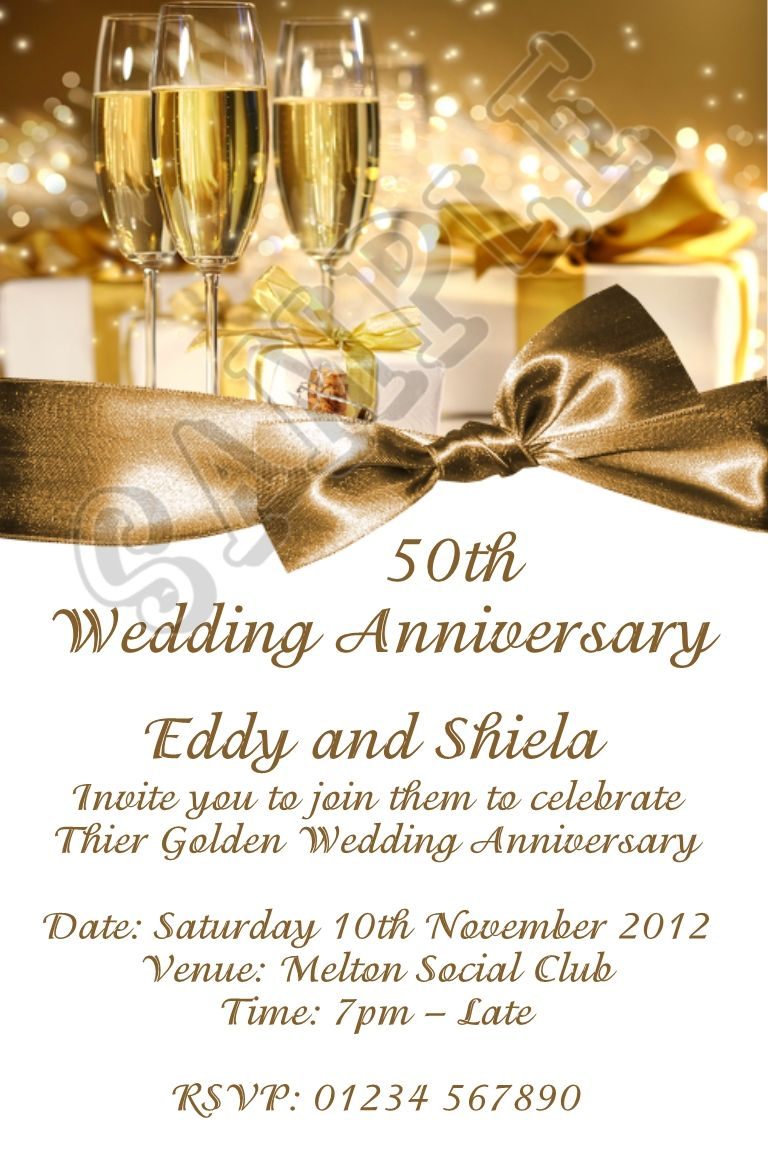 Anniversary Party Invitations Templates