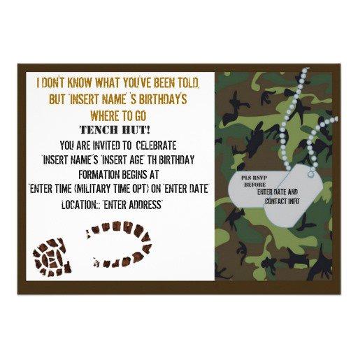 Army Invitations Free