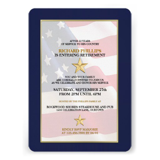 Army Military Retirement Invitations