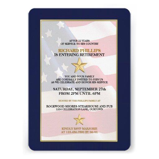 Army Military Retirement Invitations
