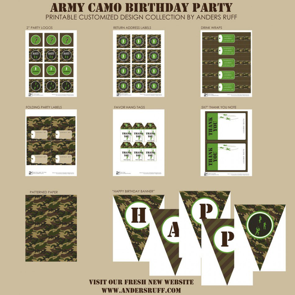 Army Party Free Printables