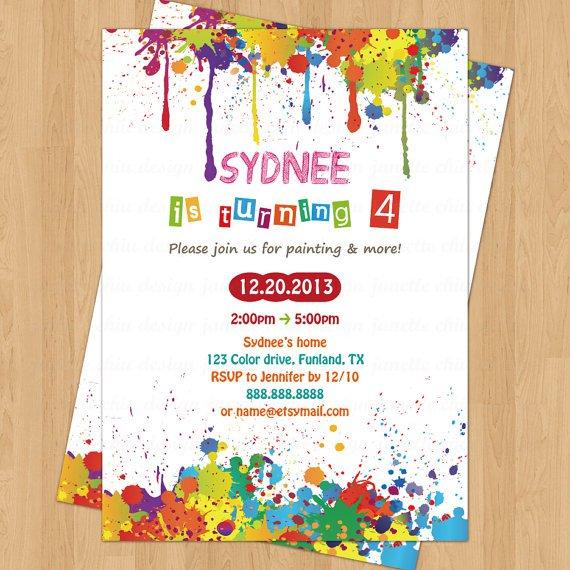 Arts And Crafts Birthday Invitation