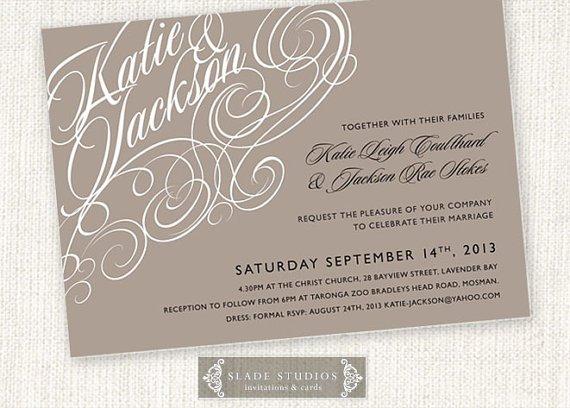 At Home Printable Wedding Invitations