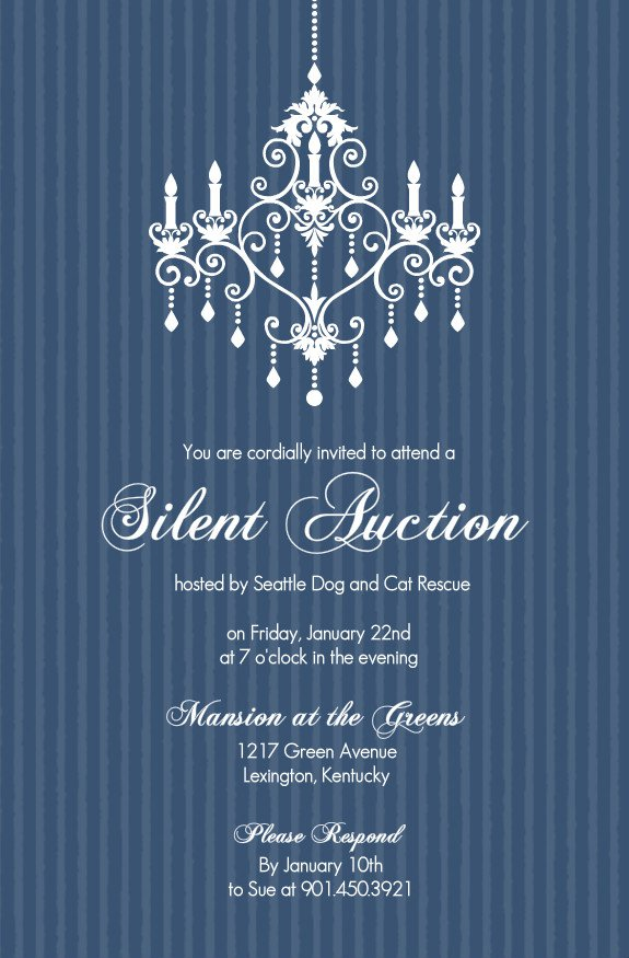 Auction Invitation Wording