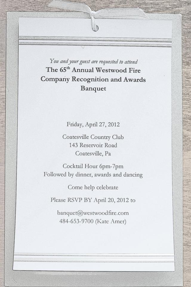 Awards Banquet Invitation Template