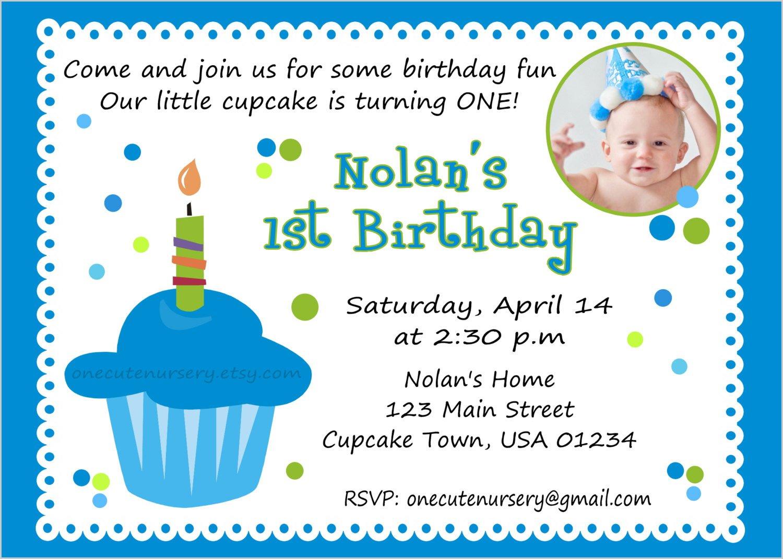 Baby Boy Birthday Invitation Cards Templates