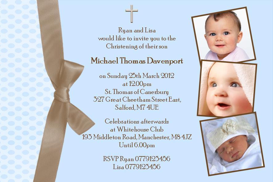 Baby Boy Christening Invitations Free Templates