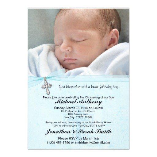 Baby Boy Christening Invitations Templates