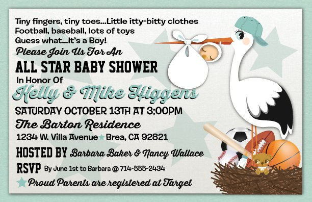 Baby Boy Sports Invitations