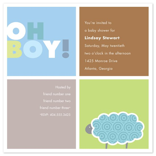 Baby Boy Sports Shower Invitations
