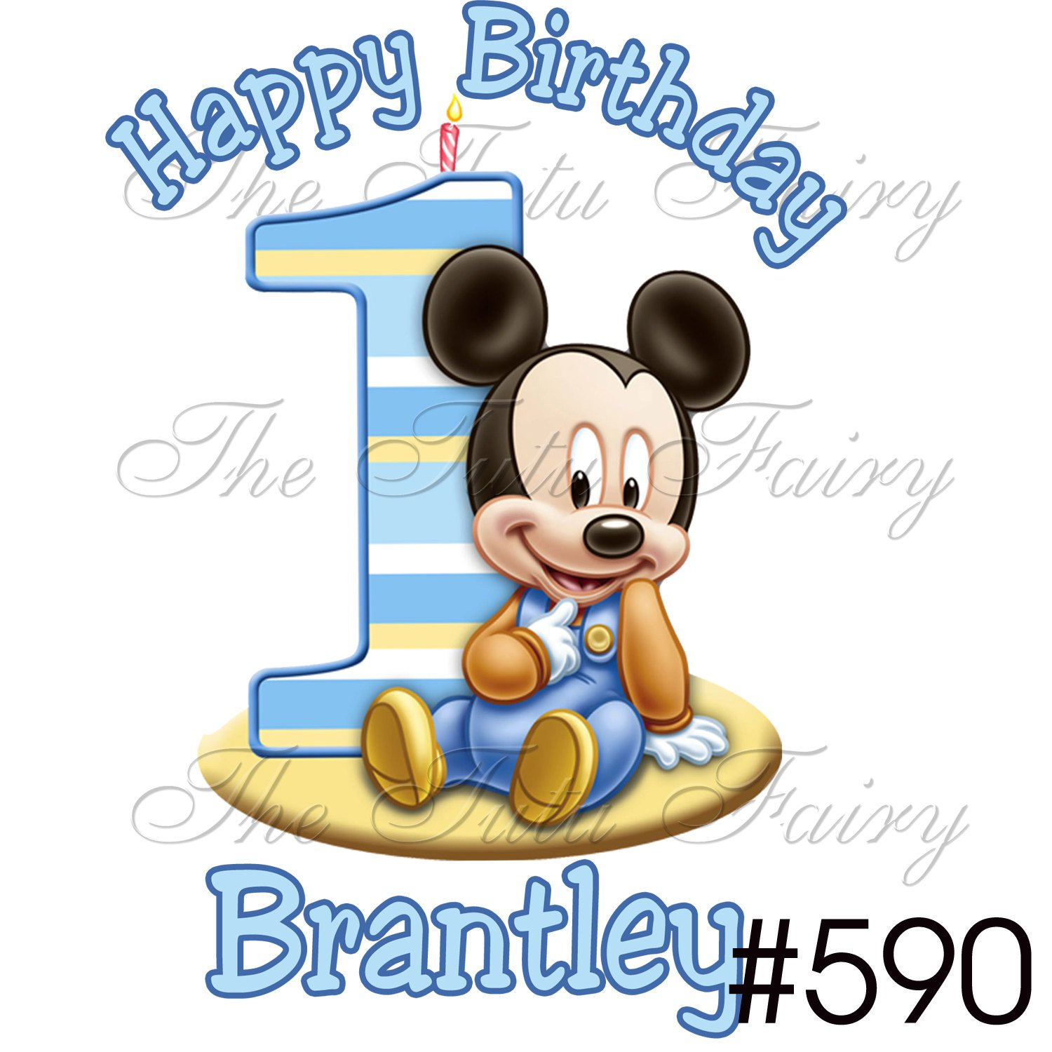 Baby Mickey Mouse 1st Birthday Clip Art