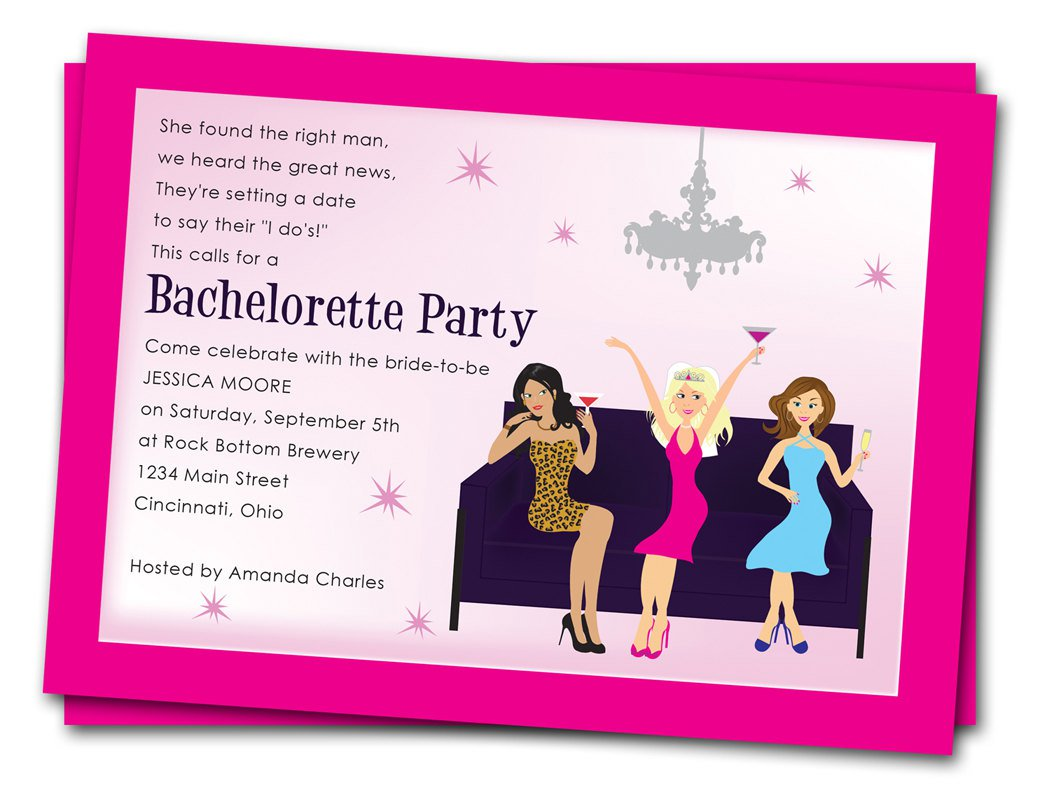 Bachelor Party Invitation Samples