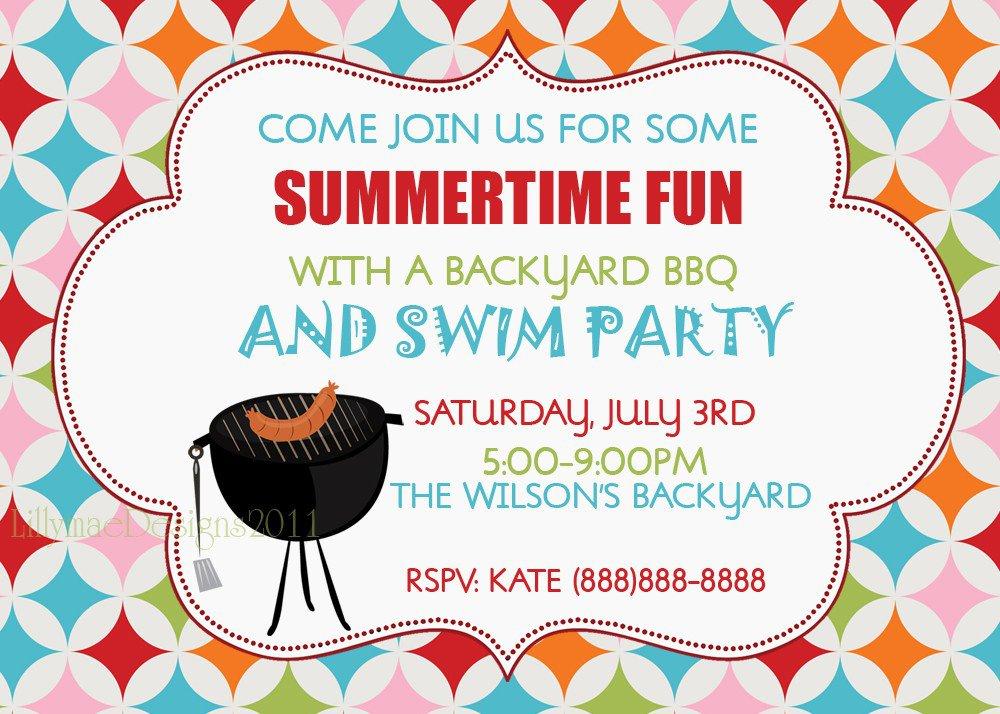 Backyard Bbq Invitation Wording