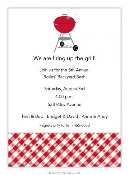 Backyard Bbq Invitations