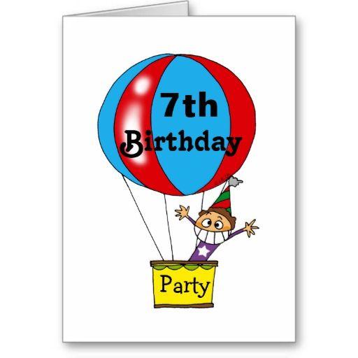 Balloon Birthday Invitation 7th